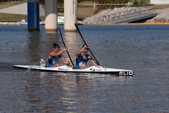 Course de canoë à Ville d'Oklahoma, OK Photo stock