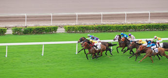 Course de cheval, jockey Image stock