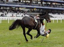Course de chevaux Photos libres de droits
