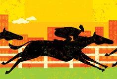 Course de chevaux d'homme d'affaires Image stock