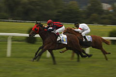 Course de chevaux dynamique de rue Leger Photos stock