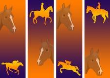 course de chevaux graphique   Photographie stock libre de droits