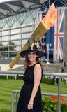 Course de chevaux, jour de dames à l'Ascot image libre de droits
