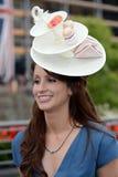 Course de chevaux, jour de dames à l'Ascot Images stock