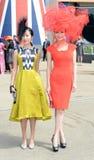 Course de chevaux, jour de dames à l'Ascot Images libres de droits