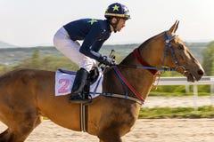 Course de chevaux pour le prix du Photographie stock