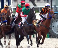 Course de chevaux pour le prix du Photo stock