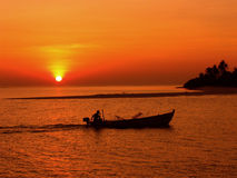 Course de coucher du soleil Photographie stock
