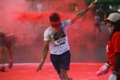 Course 2016 de couleur de l'Indonésie Photographie stock