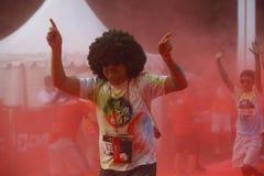 Course 2016 de couleur de l'Indonésie Images stock