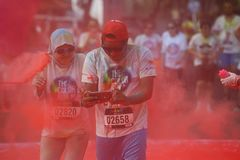Course 2016 de couleur de l'Indonésie Photos stock