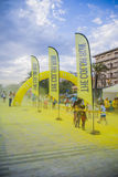 Course de couleur, lido di camaiore, Italie Photo stock
