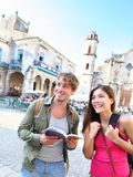 Course de couples de touristes Photos libres de droits