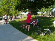 Course de cyclistes Image libre de droits