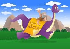 Course de dinosaure Photos stock
