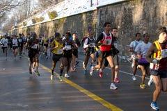 course de escalada赛跑者 库存图片