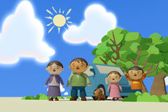 Course de famille Image libre de droits