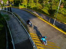 Course de fauteuil roulant Image stock
