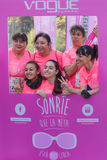 Course de femmes contre le cancer du sein Photo stock