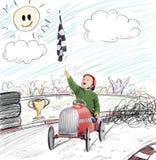 Course de gagnant d'enfant Images libres de droits