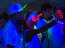 Course de Las Vegas Blacklight Images stock