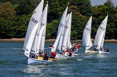 Course de navigation à la rivière Orwell, Angleterre Photos stock