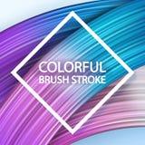 course de pinceau du résumé 3d moderne coloré de fond illustration libre de droits