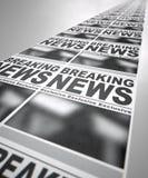 Course de presse de journal image stock