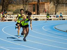 Course de relais à Toledo, Espagne le 14 avril 2018 photo stock