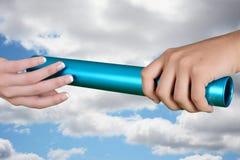 Course de relais de bâton Image stock