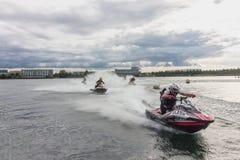 Course de scooter de mer Photographie stock