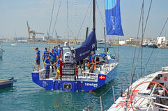 Course de Team Vestas Wind Volvo Ocean 2014 - 2015 Photographie stock libre de droits