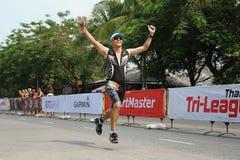 Course de triathlon Photos stock