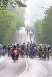 Course de vélo à 100 kilomètres Images libres de droits