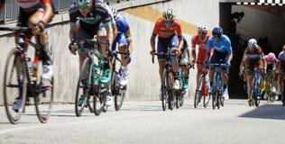 Course de vélo de l'Italie de ` des chèques postaux d Image de couleur Images stock