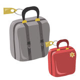 course de valise illustration stock