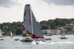 Course de yacht de Fastnet outre de Cowes R-U Photos libres de droits