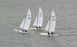 Course de yacht de navigation Photographie stock