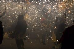 Course du feu, La Merce photographie stock