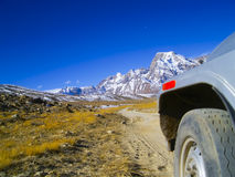 Course en Himalaya Image libre de droits