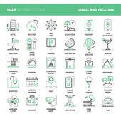 Course et vacances illustration de vecteur