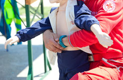 Course of first aid Stock Images