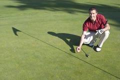 course golf green horizontal man Στοκ φωτογραφία με δικαίωμα ελεύθερης χρήσης