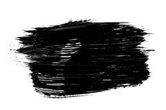 Course grunge abstraite de brosse d'isolement Images stock