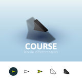 Course icon in different style Stock Photo