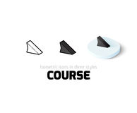 Course icon in different style Royalty Free Stock Image