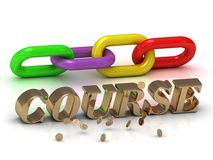 COURSE- inscription of bright letters and color chain Royalty Free Stock Image