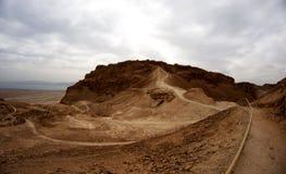 Course judean de désert de l'Israël photo stock