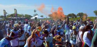 Course Kailua Kona, HI de couleur Image libre de droits