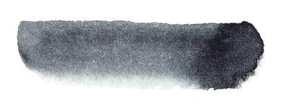 Course noire de brosse d'aquarelle tirée par la main Photographie stock